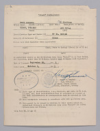 "Travel Permit for the US Military Duty Train ""Mozart"""