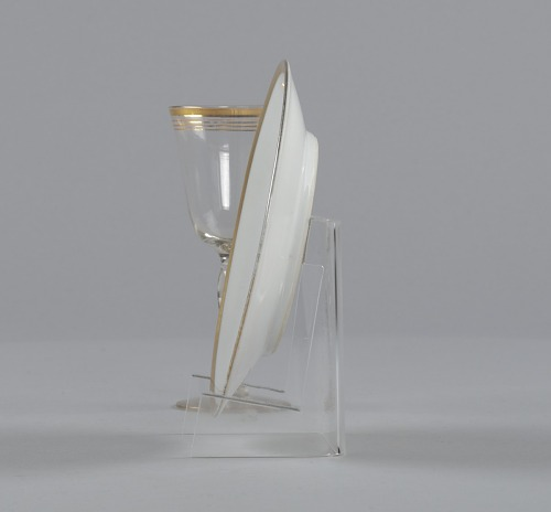 Image for Glass stemware with gold decoration from Mae's Millinery Shop