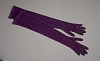 Thumbnail for Pair of arm length purple gloves from Mae's Millinery Shop