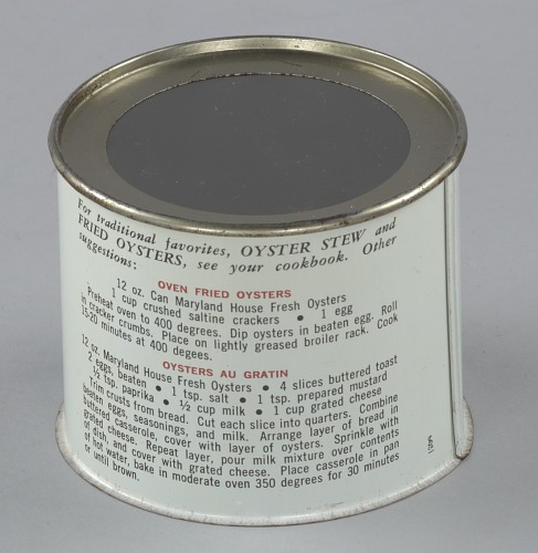 Image for Oyster can used by H. B. Kennerly & Son, Inc.