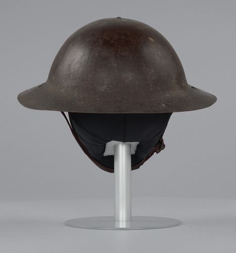 Image for Helmet worn by Peter L. Robinson, Sr. during World War I