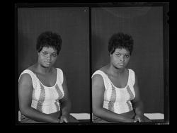 Studio Portrait of a Woman Sitting, Studio Portrait of a Woman Sitting, Diptych