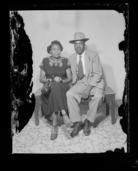 Studio Portrait of a Couple Sitting
