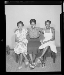 Studio Portrait of Three Women Sitting