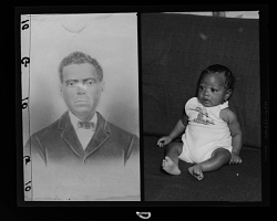 Copy Work, Portrait of a Man, Studio Portrait of a Toddler, Diptych