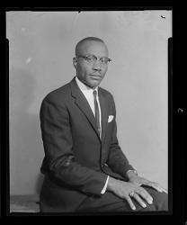 Studio Portrait of a Man Sitting, Rev. Kimble
