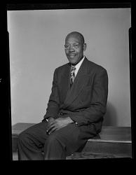 Studio Portrait of a Man Sitting, Rev. Bradshaw