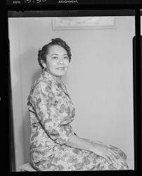 Studio Portrait of a Woman Sitting, Edwards Funeral Home