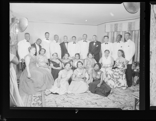 Image for Indoor Group Shot of Men and Women, Doctors and Wives