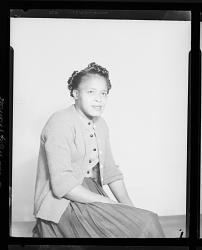 Studio Portrait of a Woman Sitting, Eddie Mae Thomas