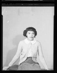 Studio Portrait of a Woman Sitting, Margaret Gilmore