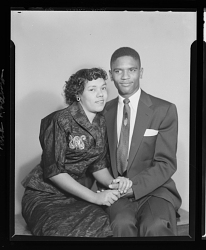 Studio Portrait of a Couple Sitting, Mr. Frank Anderson