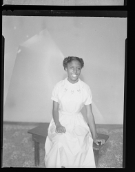 Studio Portrait of a Girl Sitting