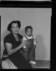 Studio Portrait of a Mother and Toddler