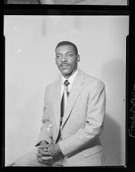 Studio Portrait of a Man Sitting, Frank Patterson