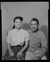 Studio Portrait of a Couple Sitting, Ruth Ann Phinesee