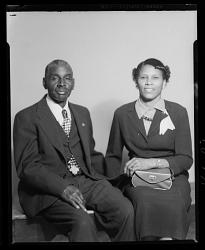 Studio Portrait of a Couple Sitting, Katie Picker