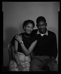 Studio Portrait of a Couple Sitting