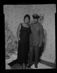 Wedding Portrait of the Bride and Groom, Groom is Wearing a Military Uniform