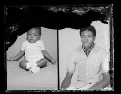 Studio Portrait of a Child, Studio Portrait of a Man, Diptych