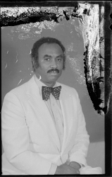 Studio Portrait of a Man Sitting Wearing a Bow-Tie, Diptych