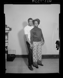 Studio Portrait of a Couple Standing