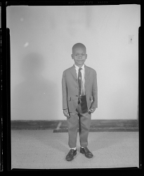 Studio Portrait of a Boy Standing