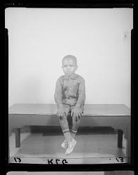 Studio Portrait of a Boy Sitting