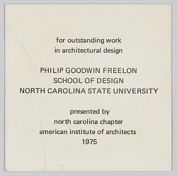 Card honoring Philip Goodwin Freelon