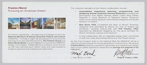 Image for Brochure announcing the partnership Freelon/Bond Architects