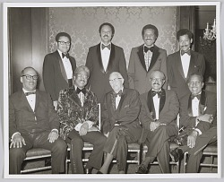 Photograph of a group at Paul R. Williams tribute event