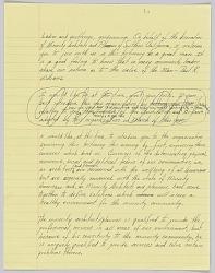 Handwritten speech by Harold Williams