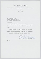 Letter and envelope from Paul Williams to Harold Williams