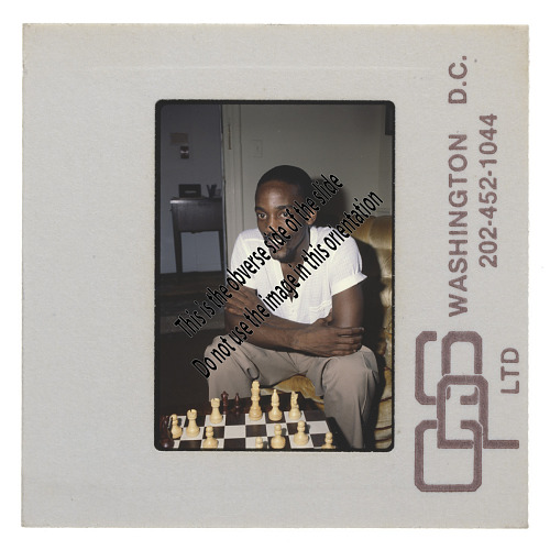 Image for Poet Essex Hemphill playing chess