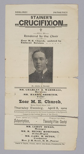 Image for Flier for the Zoar M.E Church choir