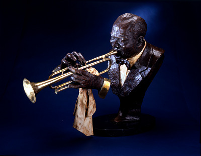 Bust of Louis Armstrong