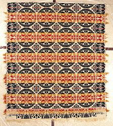Jacob Saylor; coverlet; Jacquard, tied-Beiderwand; 1853; Ohio