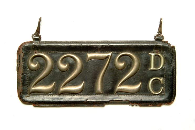 License plate with house numerals, Washington, D.C.