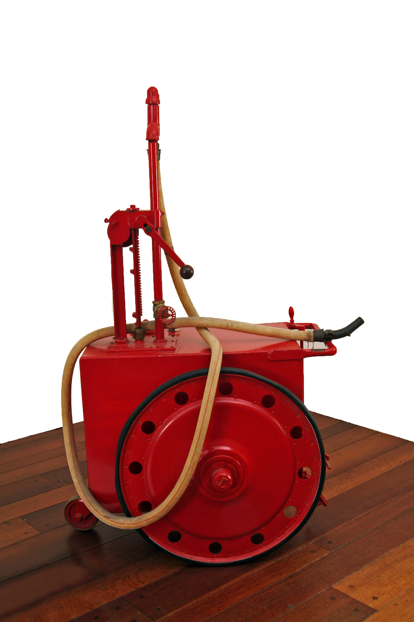Tokheim Oil Tank and Pump Company portable tank and pump, about 1910