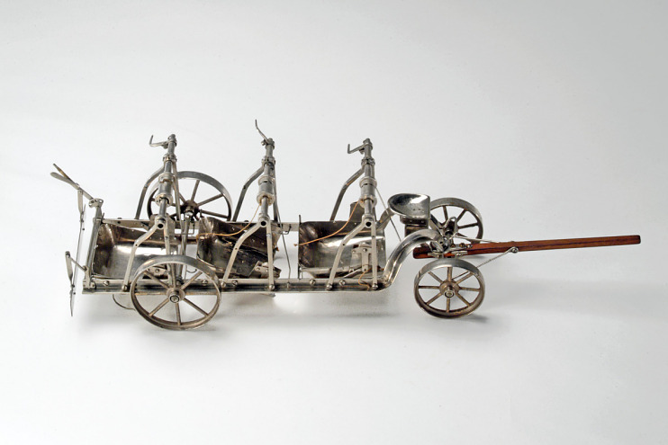 Patent model, road scraper, 1894