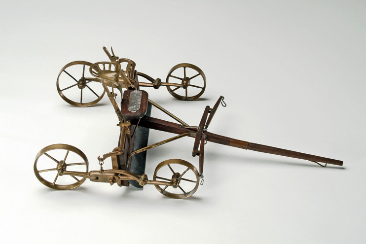 Patent model, drag scraper, 1879