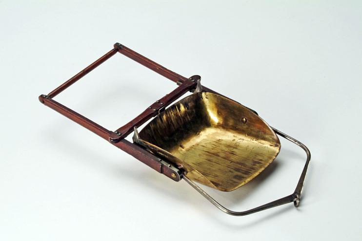 Patent model, drag scraper, 1879