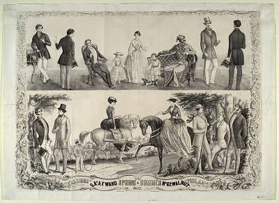 Fashions by S.A. & A.F. Ward Spring and Summer... Philadelphia 1852