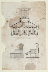 [Design for a Model School House] Section from A to B