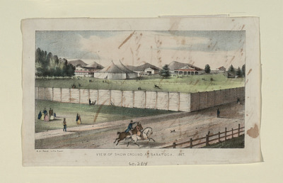 View of Show Ground at Saratoga, 1847