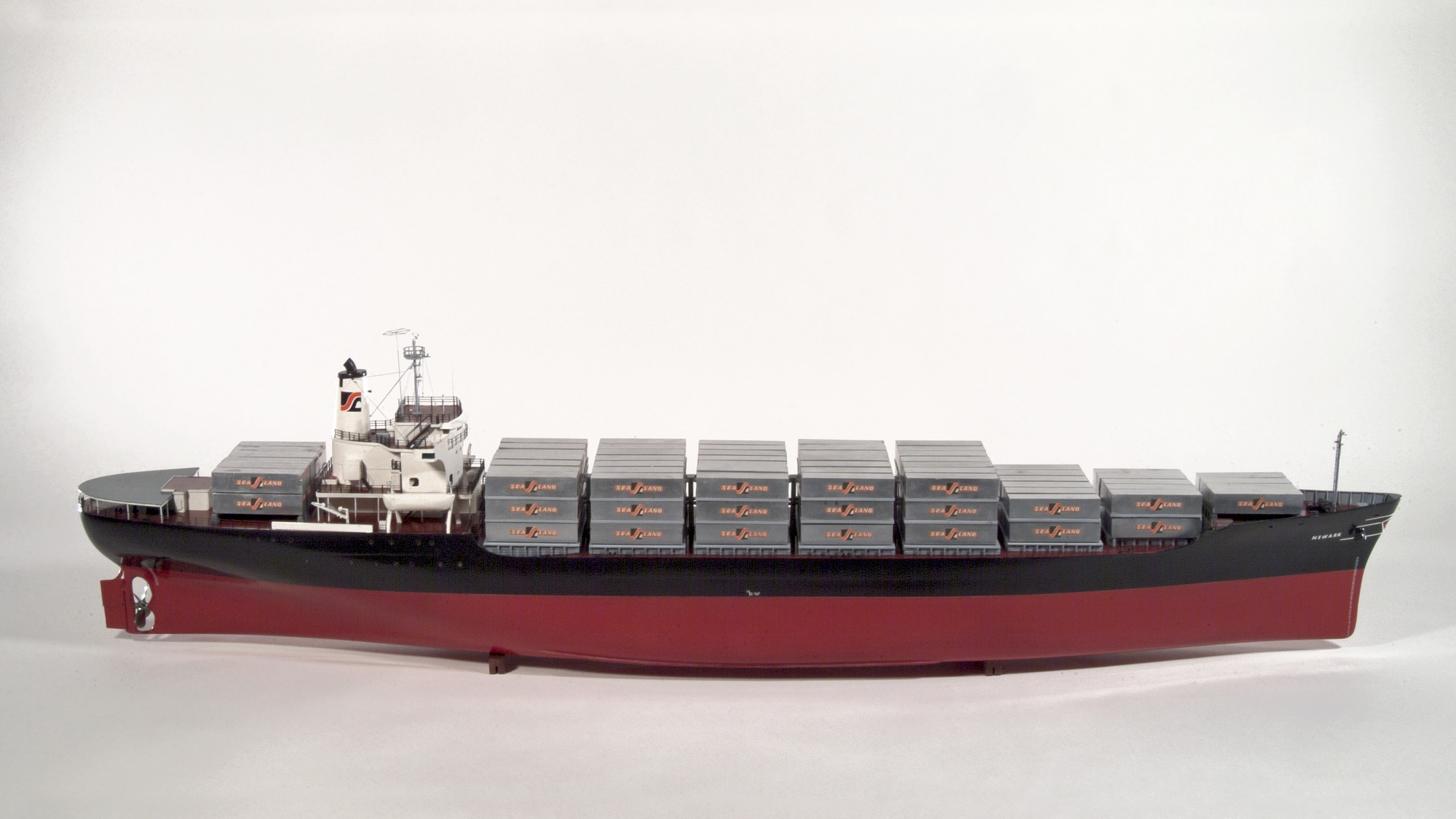 Rigged Model of the Container-ship Newark