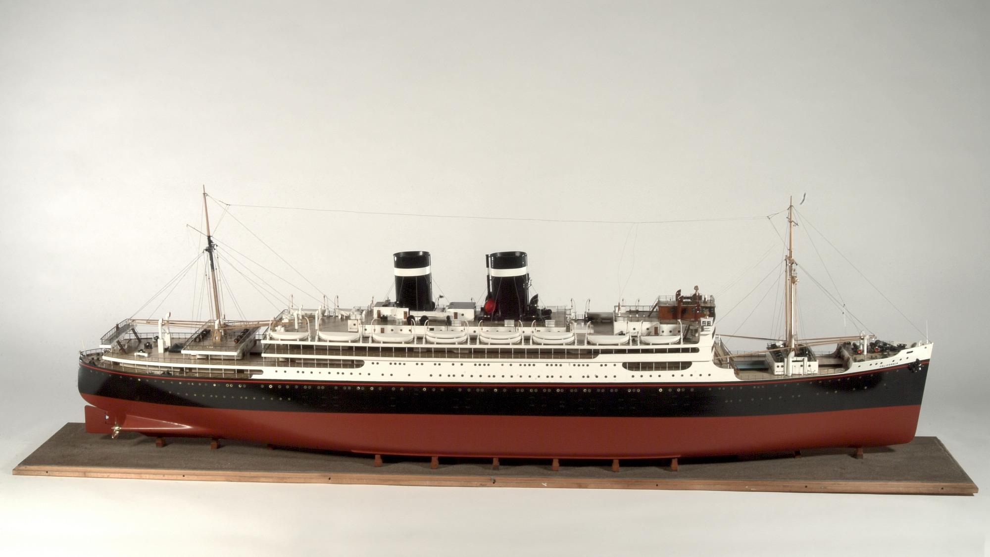 Model, Intercoastal passenger liner <i>Uruguay</i> ex. <i>California</i>