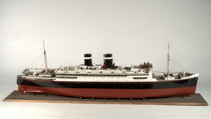 Model, Intercoastal passenger liner <i>Uruguay</i> ex. <i>California</i>