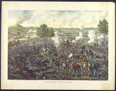 <i>Battle of Gettysburg</i> Lithograph