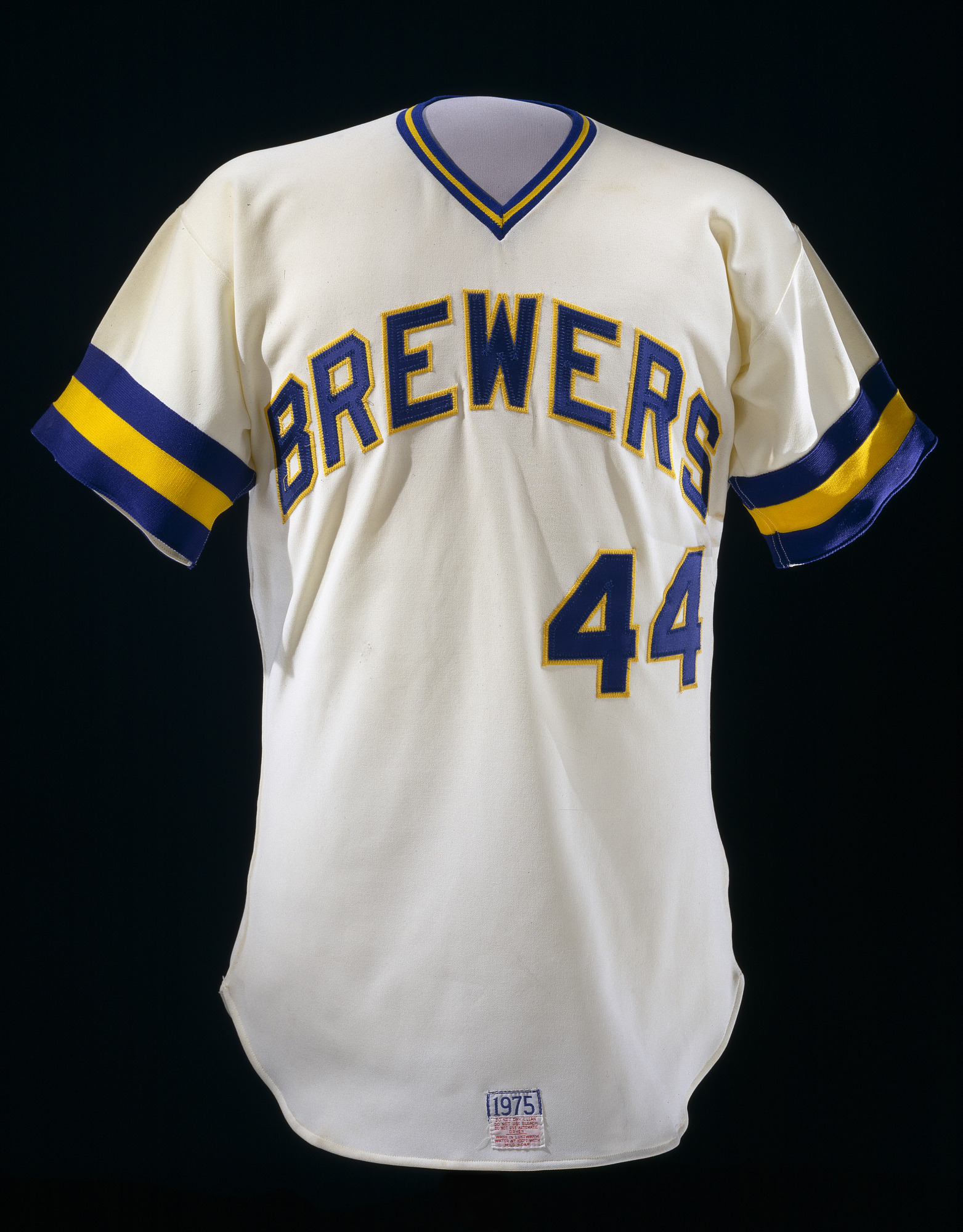 images for Milwaukee Brewers jersey, worn by Hank Aaron